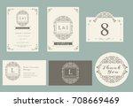vintage ornament set ... | Shutterstock .eps vector #708669469