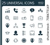 management icons set.... | Shutterstock .eps vector #708675169