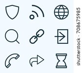 interface outline icons set....