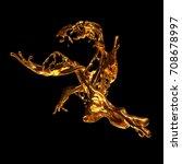 abstract golden splash on black ...   Shutterstock . vector #708678997