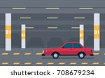 underground parking background. ... | Shutterstock .eps vector #708679234