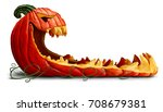 pumpkin halloween promotion as... | Shutterstock . vector #708679381