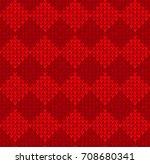 winter christmas x mas knit... | Shutterstock .eps vector #708680341