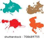 vector paint splatters.colorful ... | Shutterstock .eps vector #708689755