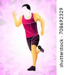 runner  jogging  sprinter... | Shutterstock .eps vector #708692329