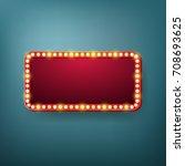 retro vintage light frame.... | Shutterstock .eps vector #708693625