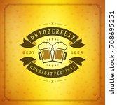 oktoberfest beer festival... | Shutterstock .eps vector #708695251