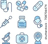 healthcare icon set | Shutterstock .eps vector #708706474