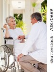 senior doctor talking with his... | Shutterstock . vector #70870669