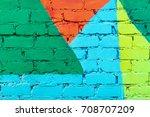 colored brick wall | Shutterstock . vector #708707209