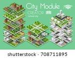 city module creator isometric... | Shutterstock .eps vector #708711895