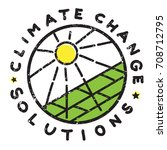 climate change solution... | Shutterstock . vector #708712795