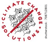 climate change solution... | Shutterstock . vector #708712801