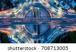 aerial view  expressway... | Shutterstock . vector #708713005