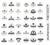 vintage logos design templates... | Shutterstock .eps vector #708720379