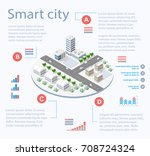 smart city isometric...   Shutterstock .eps vector #708724324