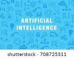 artificial intelligence  ai ... | Shutterstock .eps vector #708725311