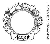 harvest decorative element....   Shutterstock .eps vector #708725617