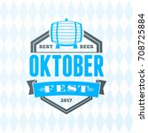 beer festival oktoberfest...   Shutterstock .eps vector #708725884