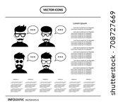 vector character cartoon  with... | Shutterstock .eps vector #708727669