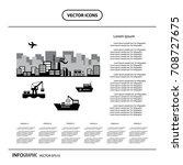 vector industrial and ... | Shutterstock .eps vector #708727675