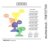 vector character cartoon  with... | Shutterstock .eps vector #708727765