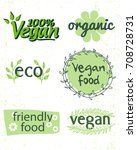 organic vegan food icons | Shutterstock .eps vector #708728731
