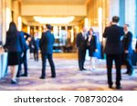 abstract blur group of people... | Shutterstock . vector #708730204