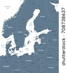 baltic sea area map   detailed...   Shutterstock .eps vector #708738637