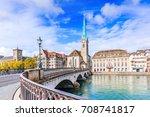zurich  switzerland. view of...   Shutterstock . vector #708741817