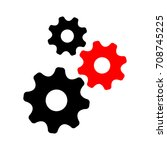 gear vector icon on white...   Shutterstock .eps vector #708745225