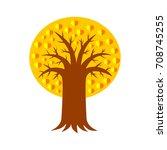 autumn tree vector icon   Shutterstock .eps vector #708745255