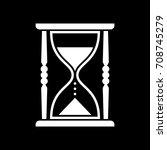 white hourglass vector icon on... | Shutterstock .eps vector #708745279