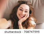 picture of young amazing happy... | Shutterstock . vector #708747595