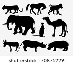 animal silhouetts | Shutterstock .eps vector #70875229