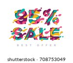 paper cut 95 percent off. 95 ...   Shutterstock .eps vector #708753049