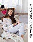 quick message. good looking...   Shutterstock . vector #708753769