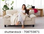 business morning. attractive...   Shutterstock . vector #708753871
