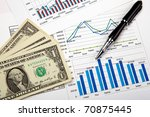 financial charts and graphs on... | Shutterstock . vector #70875445