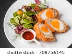 scotch egg english food | Shutterstock . vector #708756145