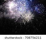 Blue And Silver Firework...