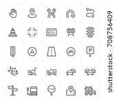 mini icon set   traffic icon...   Shutterstock .eps vector #708756409