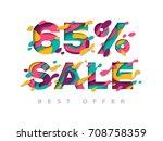 paper cut 65 percent off. 65 ...   Shutterstock .eps vector #708758359