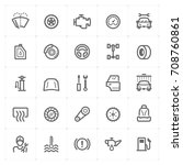 mini icon set   garage and auto ... | Shutterstock .eps vector #708760861