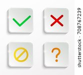 yes and no buttons. check mark... | Shutterstock .eps vector #708767239