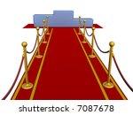 red carpet and pedestal. 3d... | Shutterstock . vector #7087678