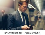young businessman wearing... | Shutterstock . vector #708769654