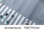 crowd of people walk on street... | Shutterstock . vector #708770164