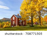 Cottage With Garden With Autum...