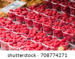 a lot of raspberries on the... | Shutterstock . vector #708774271